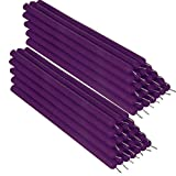 NKlaus 50x cera de abejas violeta 21cm velas de mesa sin hollín velas rituales hechas a mano velas que gotean 36336