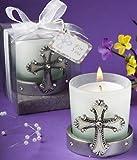 DISOK - Vela Cruz Comunión - Velas Originales para Comuniones - Detalles, Regalos y Recuerdos Baratos para Comuniones Religiosos Cruces Cruz