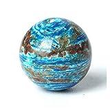 Linyuex Patrón de Piedras Preciosas Perlas Naturales ágata Azul Piedra Suelta Gema de talón 4/6/8/10 mm océano ágata Pulsera Oración Rosario (Size : 8mm 47pcs Beads)