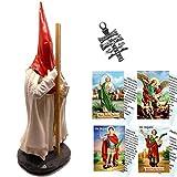 Figura Penitente de Semana Santa, con capirote Rojo y Capa Blanca. Nazareno de 20 cms.
