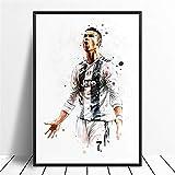 Lona Cristiano Ronaldo del fútbol del fútbol de la estrella del cartel pintura original de la pared del arte Decoración de lona de las pinturas de impresión colgantes (Size (Inch) : 30X45CM)