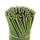 Danilovo Ritual - Velas de cera de abeja (verde) - Velas ortodoxas para oración o decoración de mesa de boda, no tóxicas - Sin goteo N20, altura: 30,5 cm, diámetro: 9,6 mm (15 unidades - 300 g)