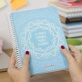 La Mente es Maravillosa - Cuaderno A5 (Si puedes soñarlo, puedes lograrlo) Regalo para amiga con dibujos (Diseño Mandala Azul)
