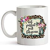 Taza té cerámica uso prolongado Versículo bíblico cristiano no perfecto, simplemente perdonado Taza bebida café Regalo