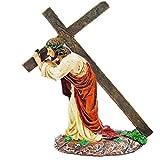 Aisoway Jesús Cruz Adornos Llevar Los Artículos Cruz Estatua Resina Figuras Religiosas Católica