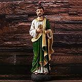 Zenghh Sabia religiosa Figurine con monedas de oro Sigue a Jesús para predicar la estatua Estatua Cristo Discurso Católico Protestante Devoto Memento Escultura Iglesia Catedral Evangelistas Sabio Mode