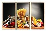 The Nisha DIY Pegatinas Etiquetas para Pared Desmontables de Vinilo 3D Arte Mágico, Conjunto de 3, Utensilios de Cocina