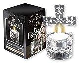 Cruz votiva luz titular 4 pulgadas alta o agua sagrada fuente cristal ornamento adoración religiosa regalo en caja
