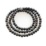 BaronHong 99-Prayer Tasbih Beads islámico musulmán Rosario de 6 mm, Ágata Natural Pura (160393, M)