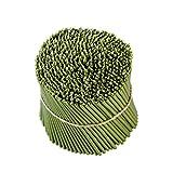 Danilovo Ritual - Velas de cera de abeja (verde) - Velas ortodoxas para oración o decoración de mesa de boda, no tóxicas - Sin goteo N60, altura: 20,5 cm, diámetro: 6,6 mm (50 unidades, 334 g)