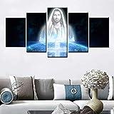 Jesús cartel pintura sobre lienzo cuadros nórdicos modernos para sala de estar decoración del hogar iglesia cristiana decoración pintura
