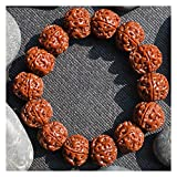 YYF Cepillo de la máquina de Jade Hombres y Mujeres la Cultura de Juego Rosario Rosario Nepal Cinco o Seis pétalos Vajra Bodhi Pulsera (Color : Five Petals, tamaño : 19mm)