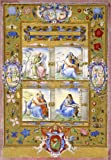 Posterlounge Cuadro de Madera 30 x 40 cm: The Four Evangelists, Within a Border of Flowers, Birds, and Insects de Giulio Clovio/Bridgeman Images